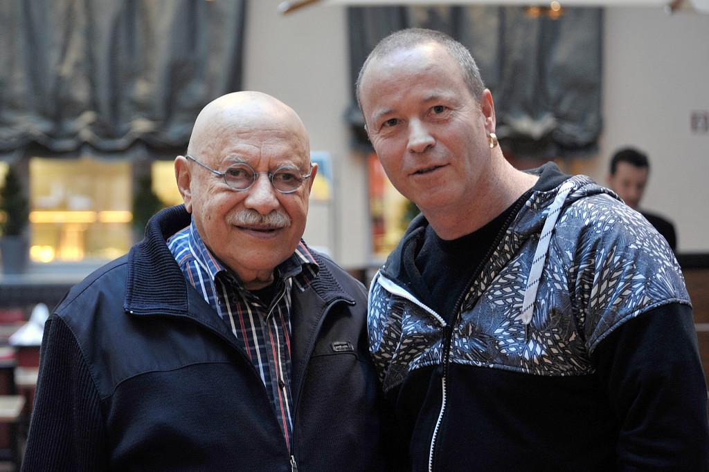 Giora Feidmann und Jonathan Scheiner.